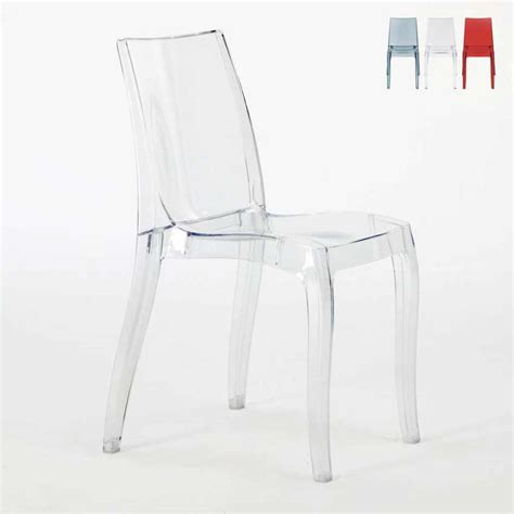 sedie trasparenti prezzi sedia trasparente in policarbonato impilabile cristal
