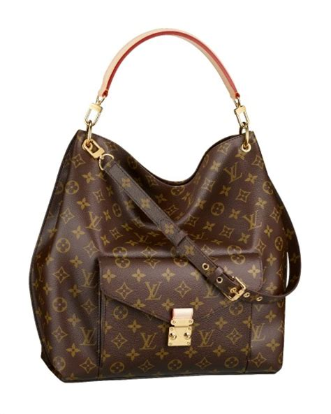 louis vuittons  hobo bag featuring  monogram metis
