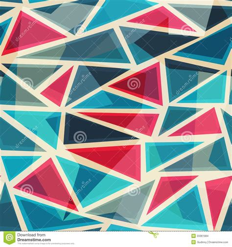 triangle mosaic pattern mosaic modern triangles seamless pattern stock images