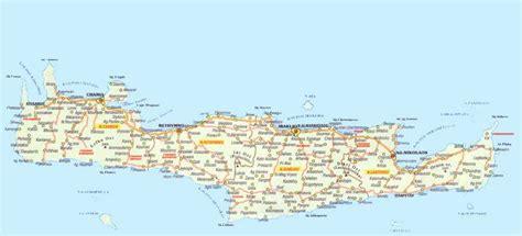 crete map image crete island map