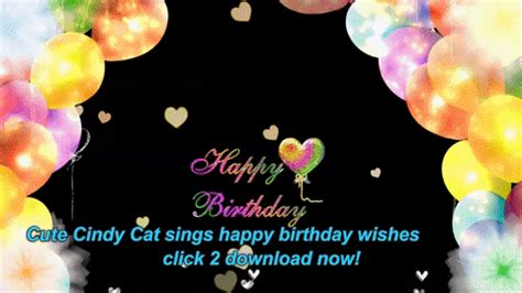 Happy Birthday Wishes Animated Gif Cat Gif Find Share On Giphy