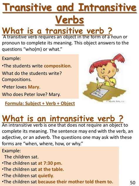sentence pattern intransitive verb transitive and intransitive verbs worksheets for 6th grade