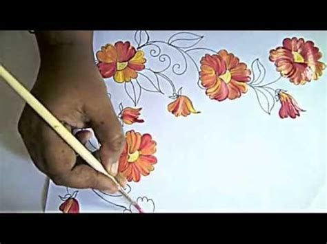 painting designs fabric painting bed sheet painting corner designs by