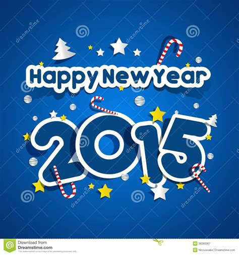 happy new year 2015 greeting card stock vector image