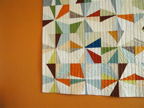 Orange Quilt Bee by Spotted Stones The Big Orange Wall Quilt
