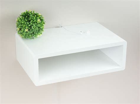 floating shelf side table slim modern floating wall mount nightstand side table