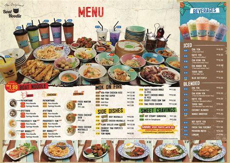 boat noodle menu menu