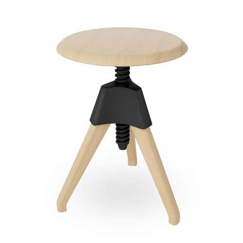 swivel stool tabouret pivotant r 233 glable en bois noir swivel stool au cult furniture royaume uni