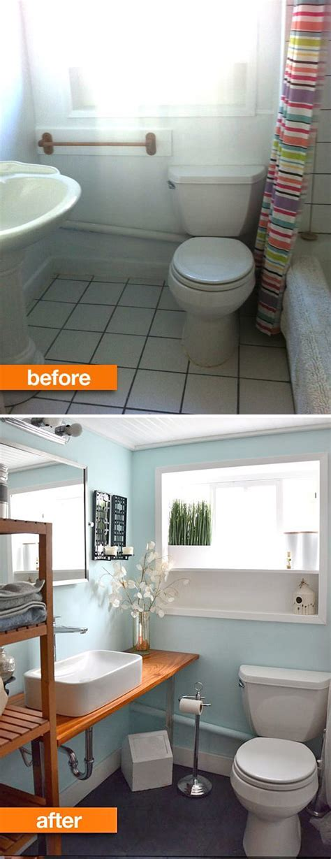 Tiny Bathroom Makeover by Small Bathroom Ideas Makeovers Decorating Your Small Space