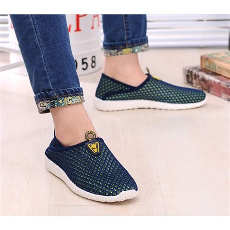 Murah Mainan Anjing Gigit Sepatu Shoes sepatu slip on mesh pria size 39 green blue jakartanotebook