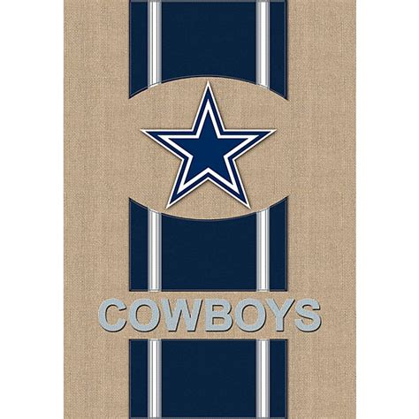 dallas cowboys burlap garden flag home decor home