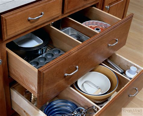 kitchen cabinet and drawer organizers kraftmaid adjustable drawer dividers traditional
