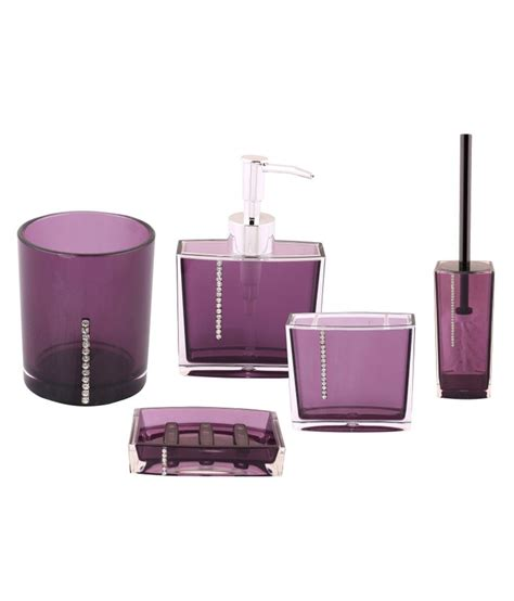 purple bathroom sets buy premsons purple bath sets online at low price in india