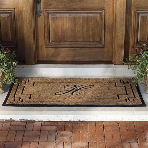 Frontgate Front Door Mats Westfield Monogrammed Coco And Rubber Door Mat Frontgate Traditional Doormats By Frontgate