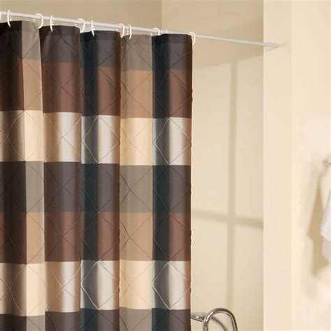 braune gardinen shower curtain