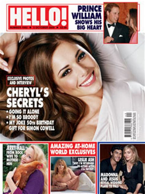 photos of cheryl cole on cover of hello magazine uk