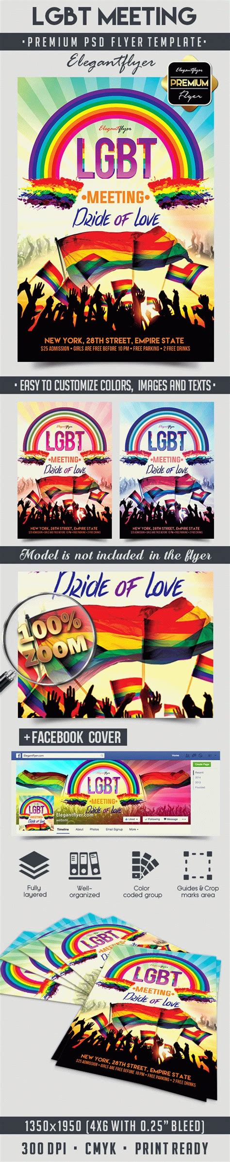 Lgbt Flyer Template lgbt meeting flyer psd template by elegantflyer