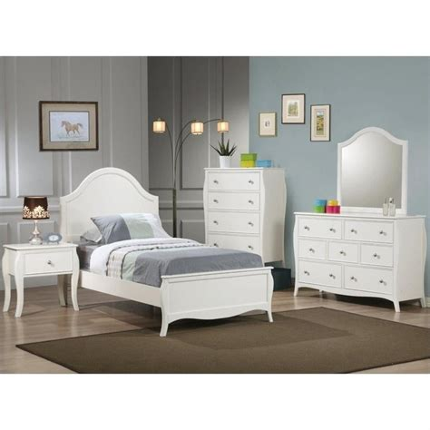 white 3 piece bedroom set coaster dominique 3 piece bedroom set in white finish