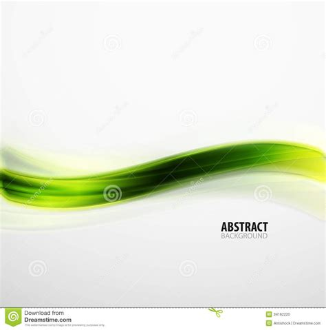 abstract green eco line template stock photo image 34162220