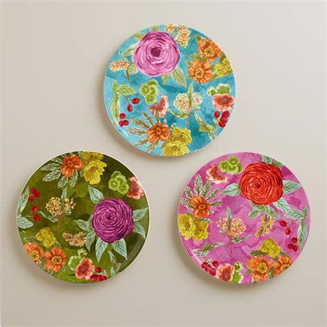 To Market Recap Outdoor Plates by Garden Plates Set Of 3 Contemporary Dinner Plates