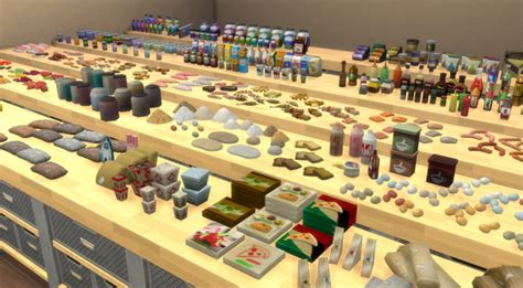 realistic sims 4 cc clutter food pantry clutter mega set brazenlotus place sims