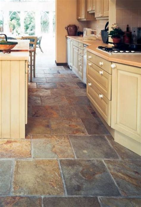 Slate Kitchen Floor 30 Practical And Cool Looking Kitchen Flooring Ideas Digsdigs