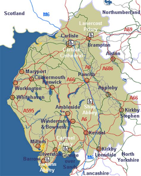 map uk unit 12 lakes farm shap the religious buildings of cumbria and the