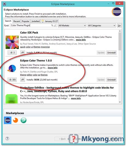 eclipse theme mkyong how to change eclipse theme mkyong com