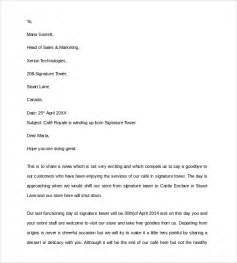 sample closing business letter 7 documents in pdf word