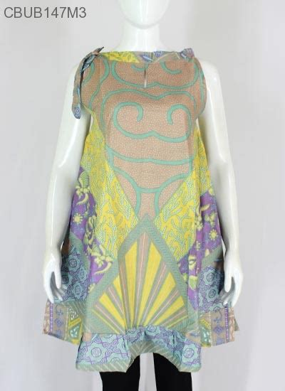 Dress Wanita Cantik Motif Batik dress batik cantik tali motif sinar akar dress murah