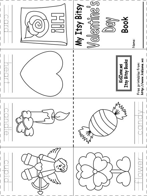 Itsy Bitsy Book Valentine S Day Printable Books