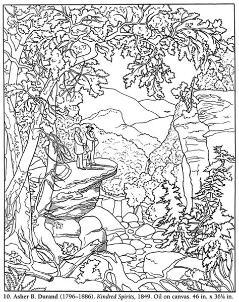 coloring pages of landscapes adult landscape coloring pages