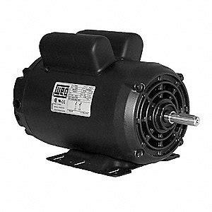 weg 5 hp light duty air compressor motor capacitor start run 3460 nameplate rpm 208 230 voltage