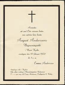 funeral invitation wording august andersson s funeral invitation