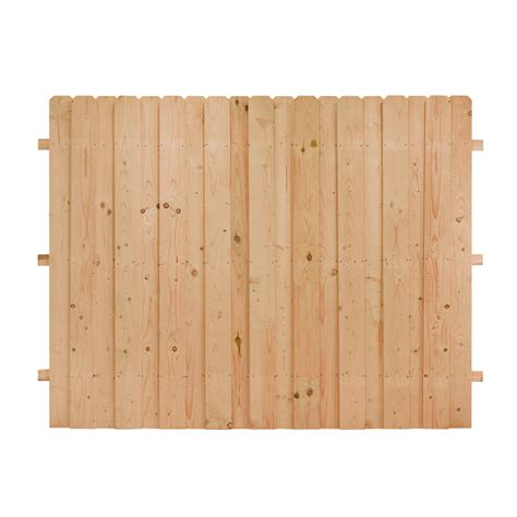 lowes ear fence shop cedar ear wood fence panel common 8 ft x 6 ft actual 8 ft x 6 ft at
