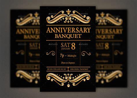 Anniversary Banquet Flyer Photoshop Template Inspiks Market Banquet Flyer Template
