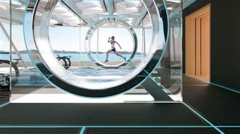 Salle De Sport Futuriste by Symmetry Le Superyacht Sym 233 Trique Qui Navigue Dans Les