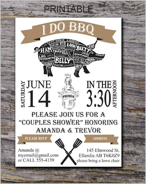 bbq invitations templates free 53 bbq invitation templates free premium templates
