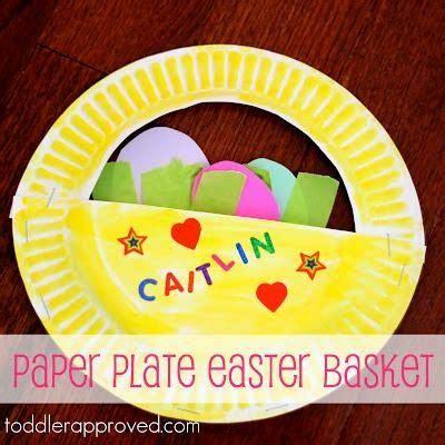 Paper Plate Basket Craft - easter basket paper plate craft easter