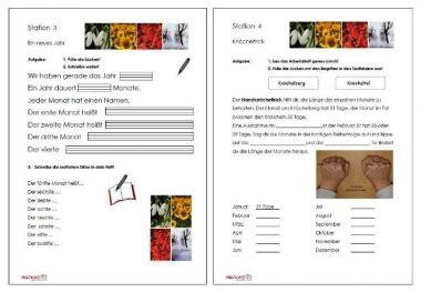 Werkstatt Kalender by Unterrichtsmaterial 220 Bungsbl 228 Tter F 252 R Die Grundschule
