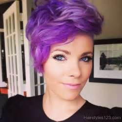 hair styles that are and layerd with purple die in it short purple layered hair