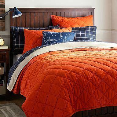 recycle down comforter finley solid quilt sham orange pbteen alex s bedroom