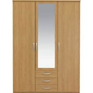 buy collection new hallingford 3 dr 3 drw wardrobe oak