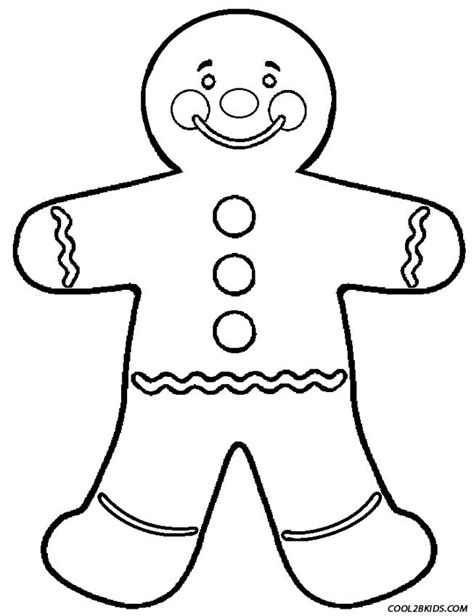 gingerbread man blank coloring page free coloring pages of the gingerbread man
