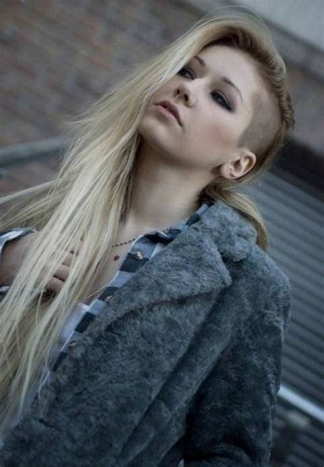 long hairstyles with shaved sides women long side shaved rocker hairstyles for women http