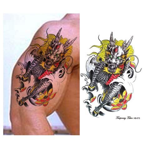 tattoo naga di lengan kualitas tinggi air naga tato beli murah air naga tato