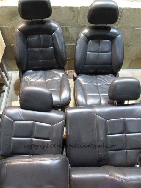 jeep grand leather seats jeep grand zj zg 93 99 leather seats set front back seat no rips ebay