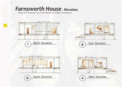 farnsworth house section farnsworth house plan section elevation best free