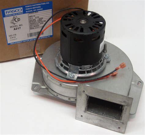 fireplace draft inducer a217 fasco furnace draft inducer motor fits lennox 7021