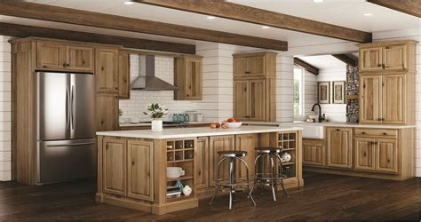 hickory kitchen cabinets home depot create customize your kitchen cabinets hton bath cabinets in natural hickory the home depot